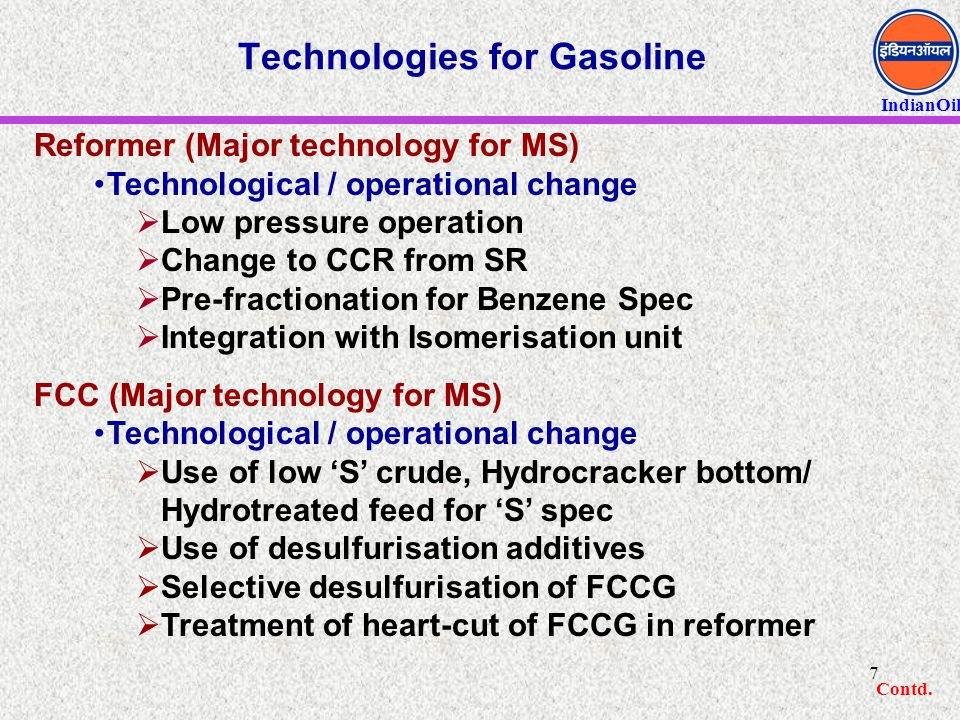 Technologies for Gasoline
