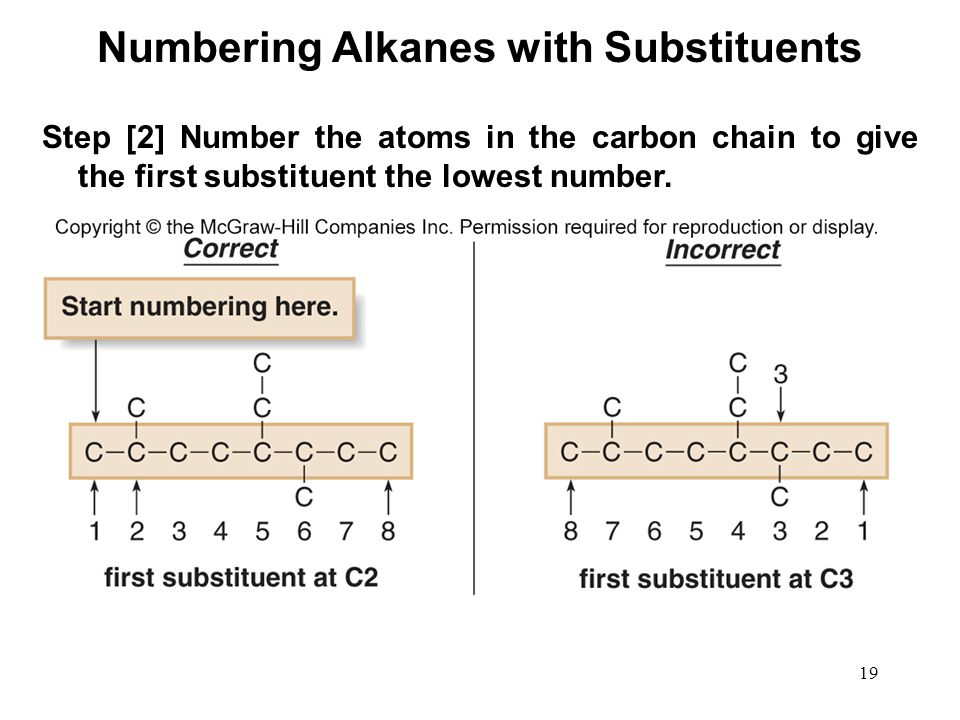Numbering Alkanes with Substituents