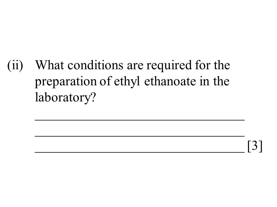 (ii). What conditions are required for the