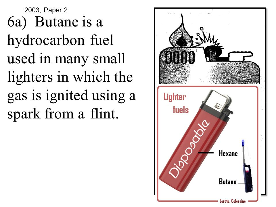 6a). Butane is a hydrocarbon