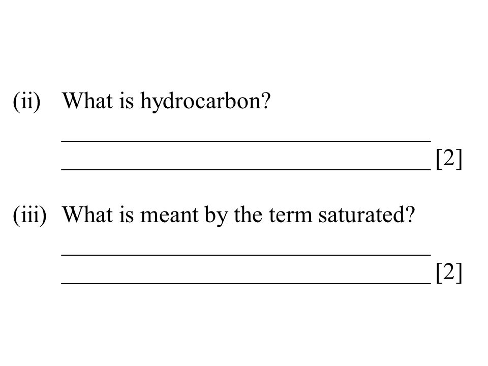 (ii). What is hydrocarbon. _______________________________