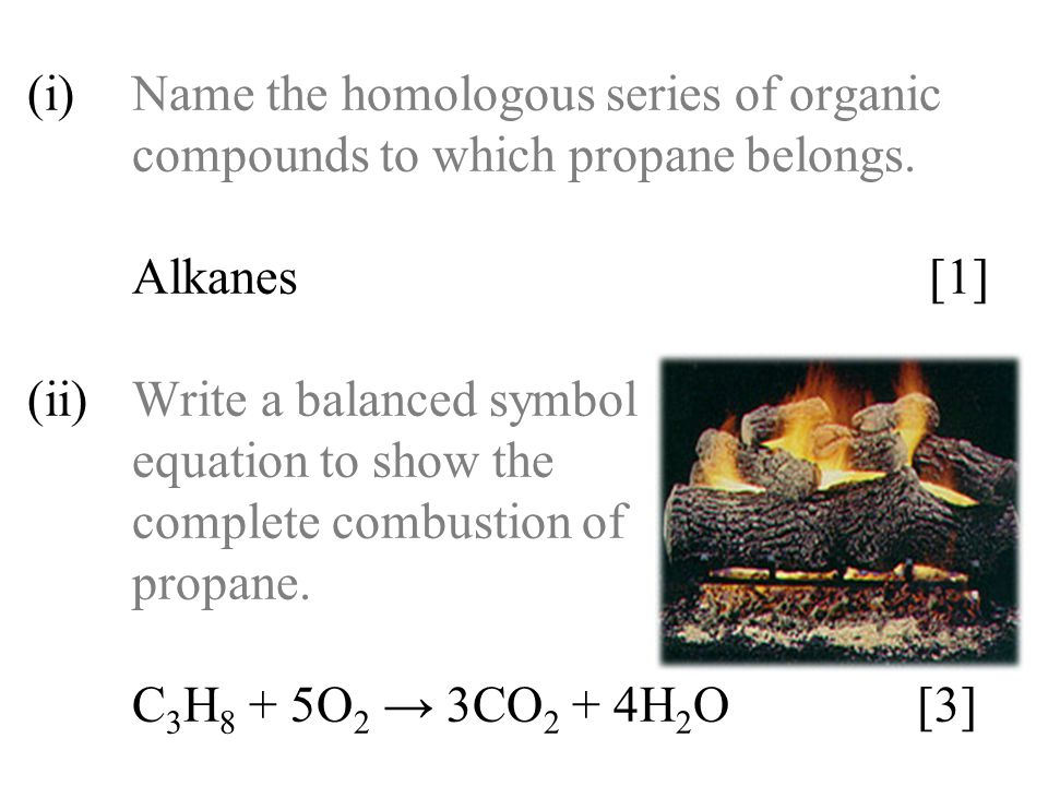 (i). Name the homologous series of organic