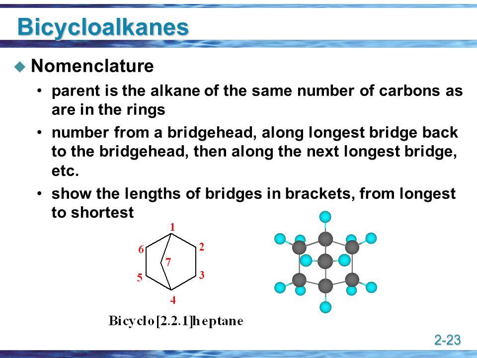 Bicycloalkanes Nomenclature