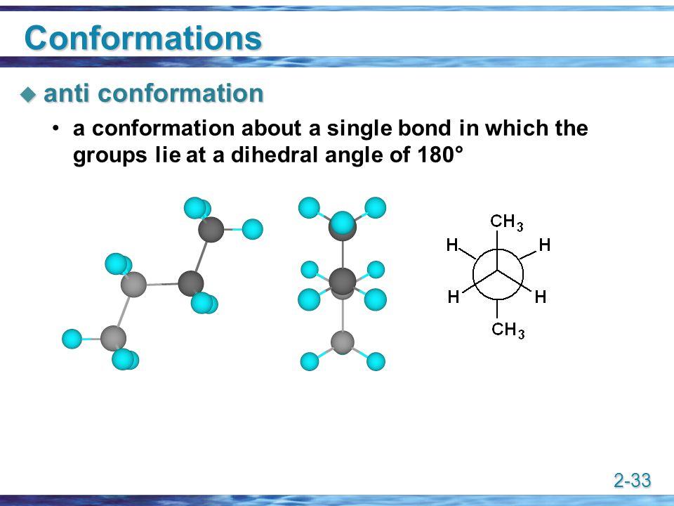 Conformations anti conformation