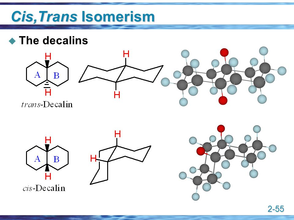 Cis,Trans Isomerism The decalins