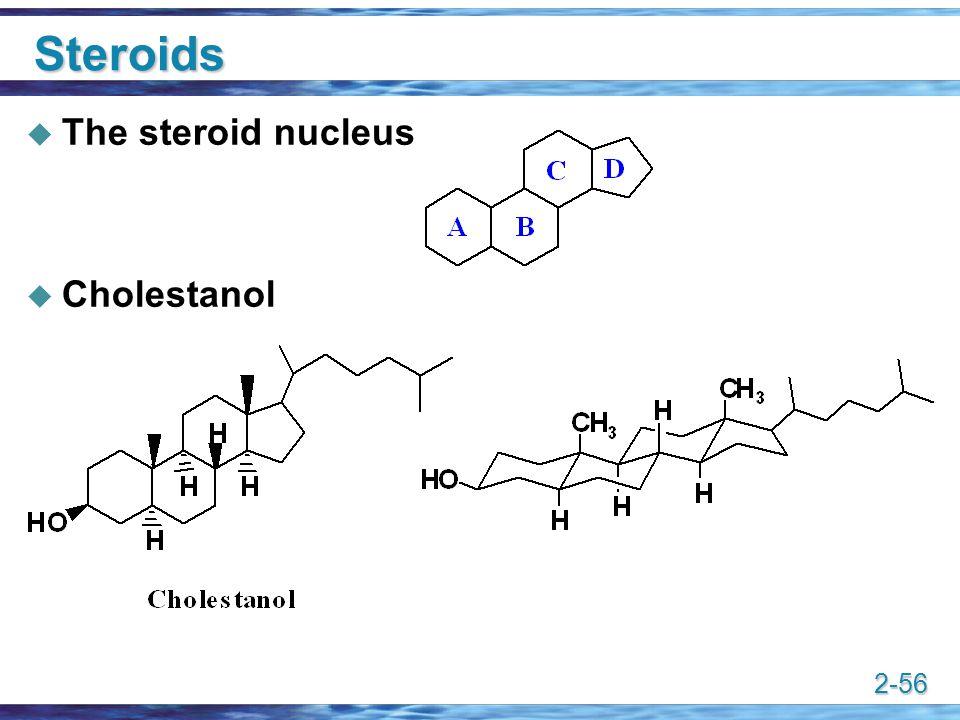 Steroids The steroid nucleus Cholestanol
