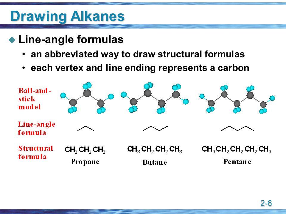 Drawing Alkanes Line-angle formulas