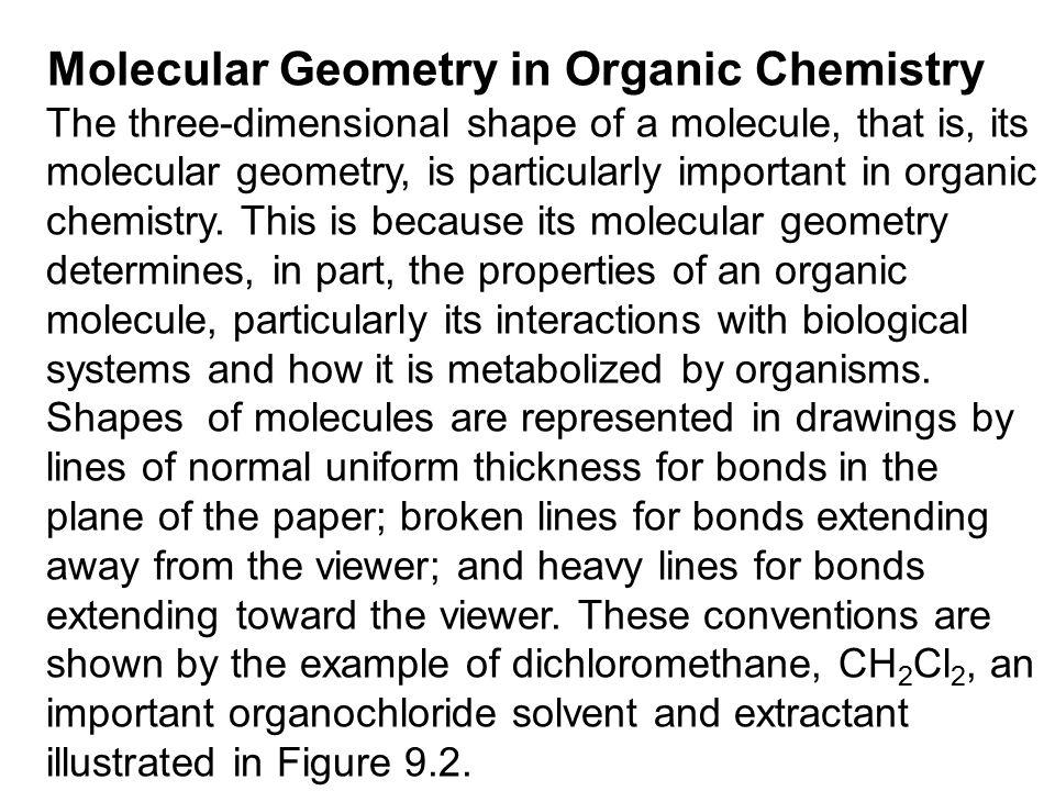 Molecular Geometry in Organic Chemistry