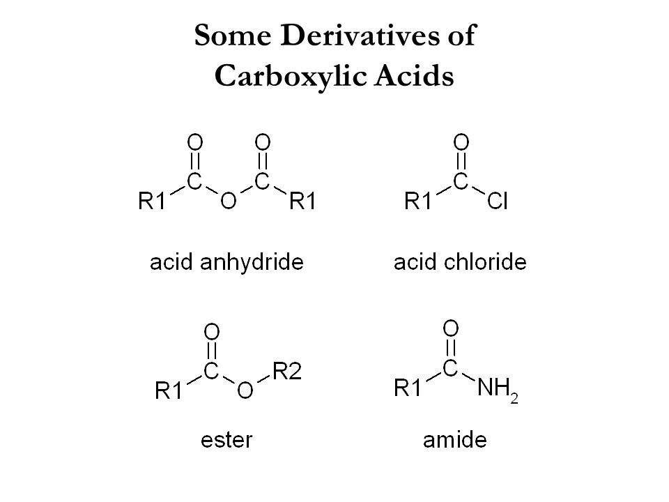 Some Derivatives of Carboxylic Acids