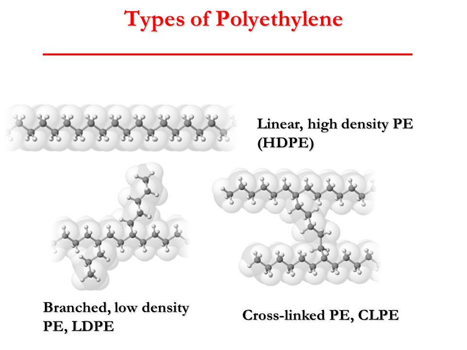 Types of Polyethylene Linear, high density PE (HDPE)