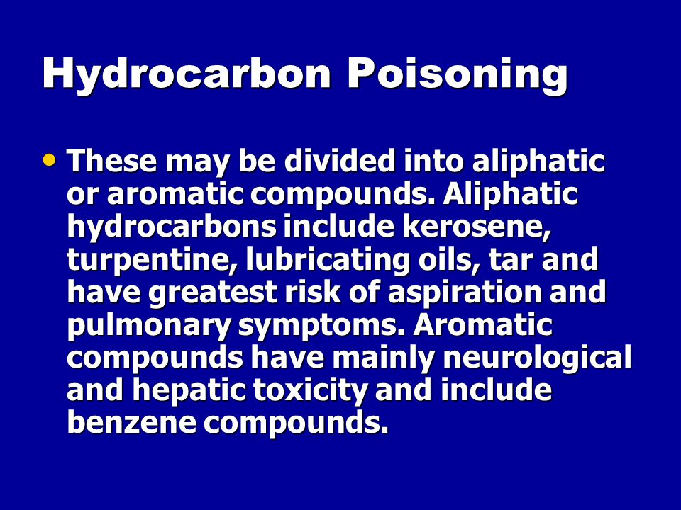 Hydrocarbon Poisoning