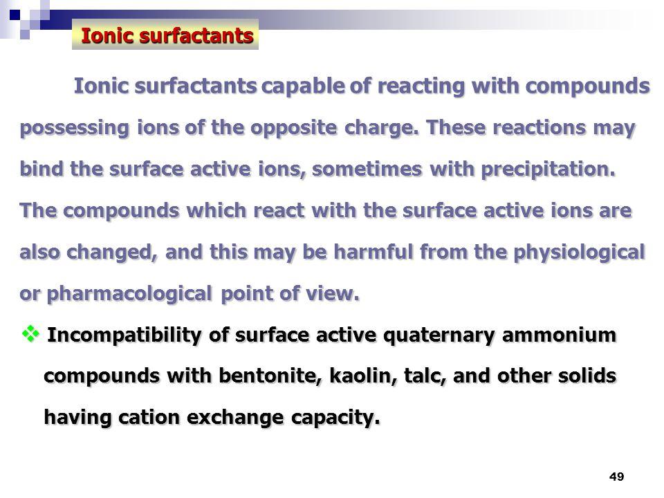 Ionic surfactants