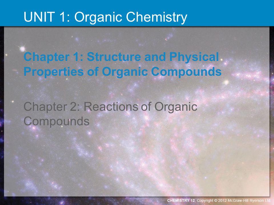 UNIT 1: Organic Chemistry