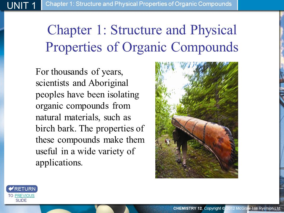 Chapter 1: Structure and Physical Properties of Organic Compounds