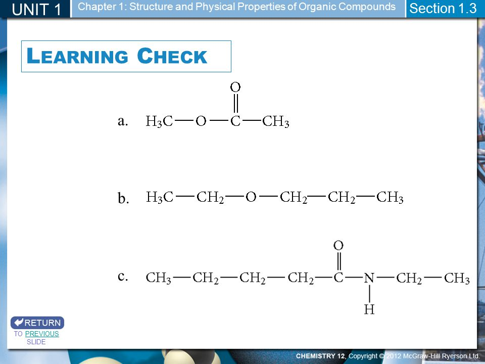 Learning Check UNIT 1 b. c. Section 1.3