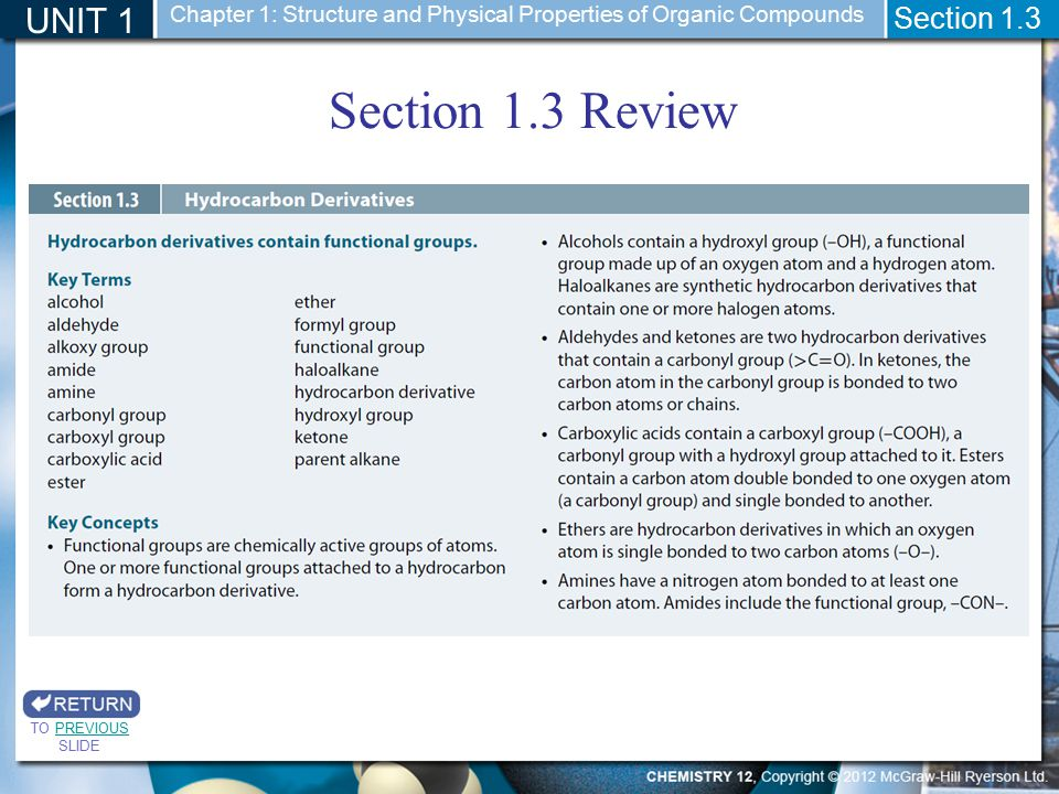 Section 1.3 Review UNIT 1 Section 1.3