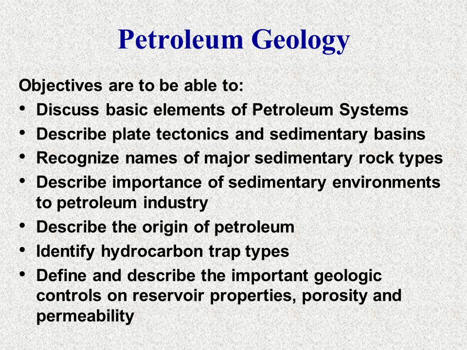 Geology of Petroleum Systems 2