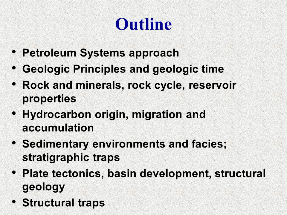 Geology of Petroleum Systems 3