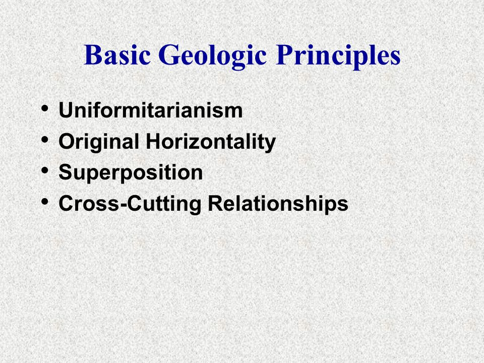 Basic Geologic Principles