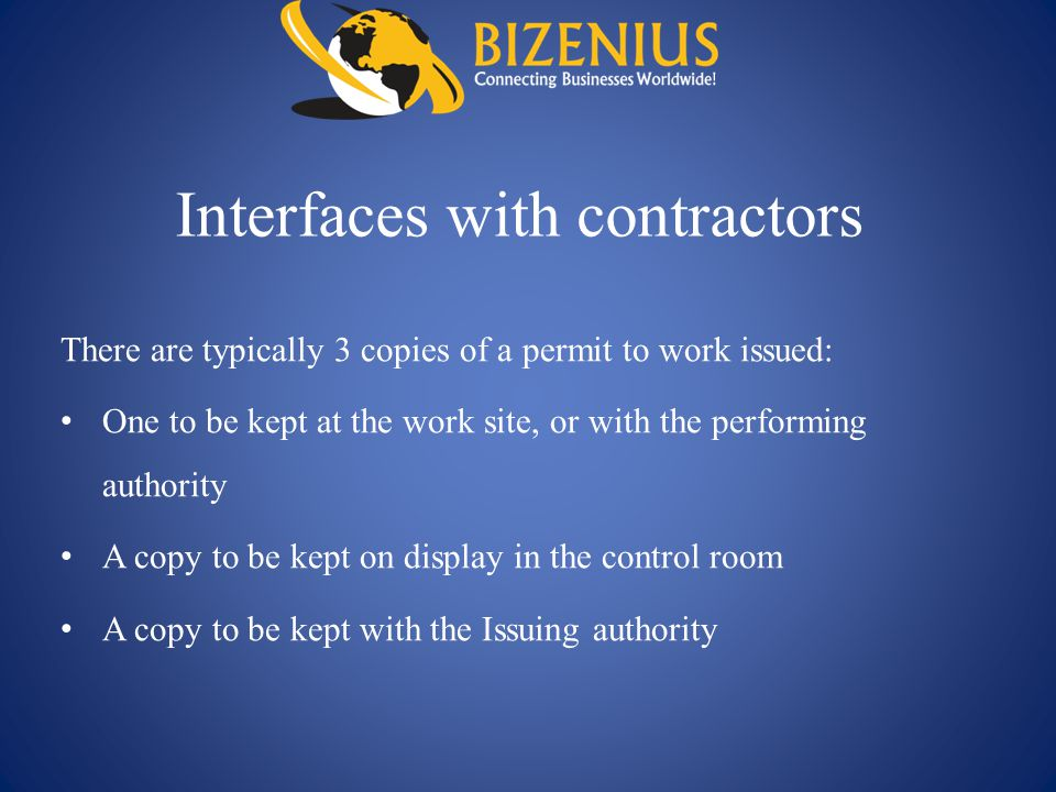 Interfaces with contractors