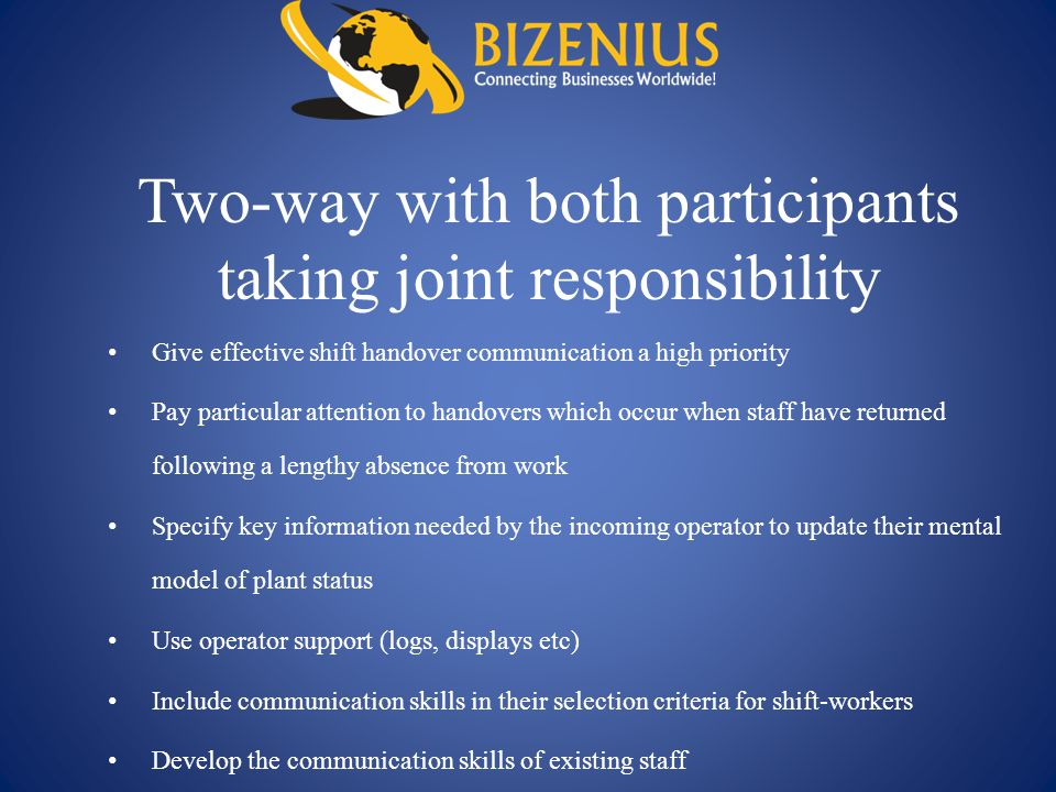 Two-way with both participants taking joint responsibility