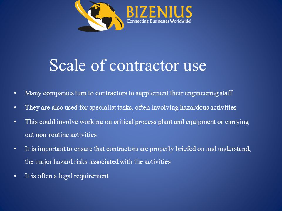 Scale of contractor use