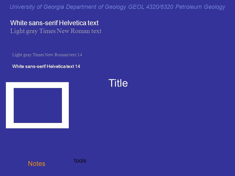 Title White sans-serif Helvetica text Light gray Times New Roman text