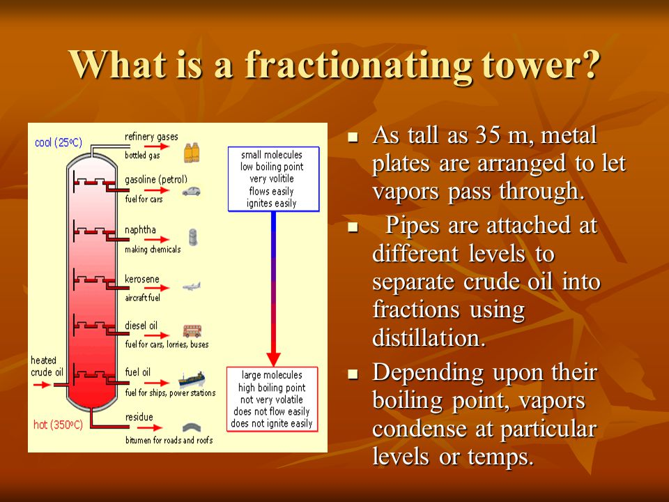 What is a fractionating tower