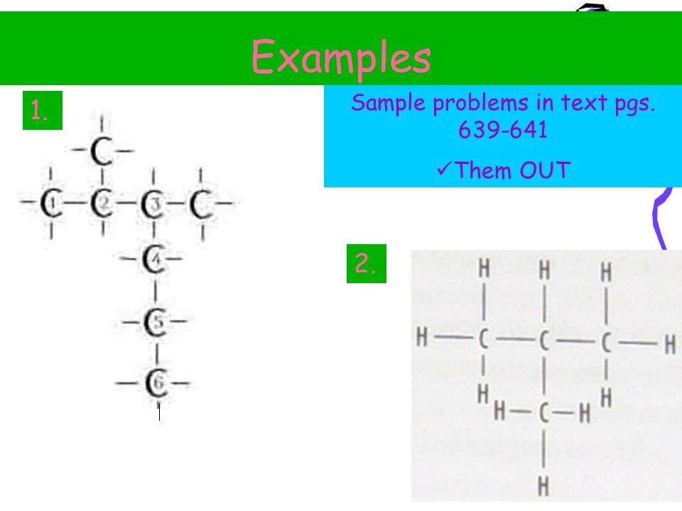 Sample problems in text pgs. 639-641