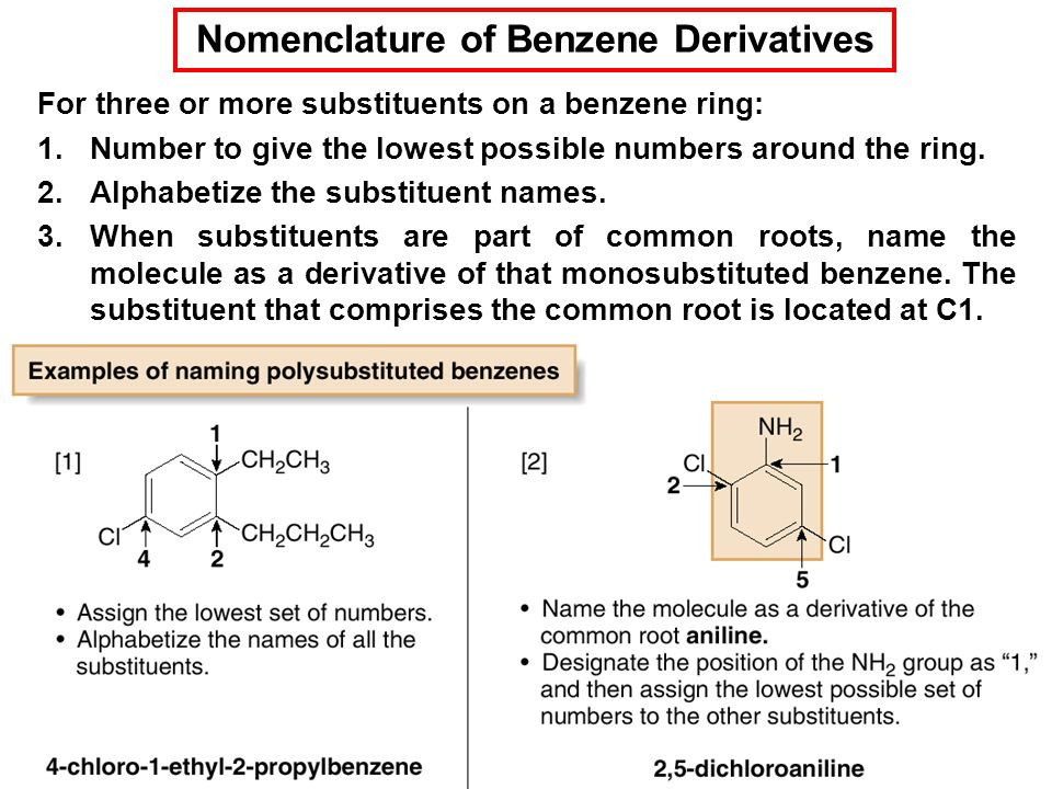 Nomenclature of Benzene Derivatives