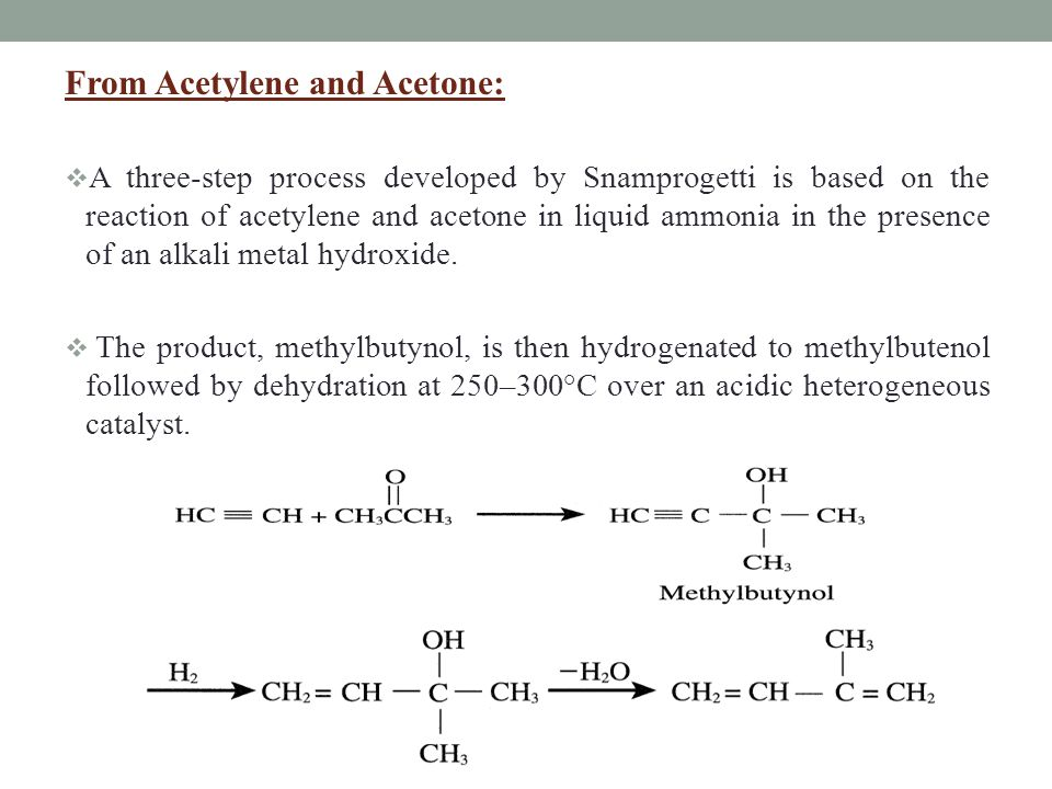 From Acetylene and Acetone: