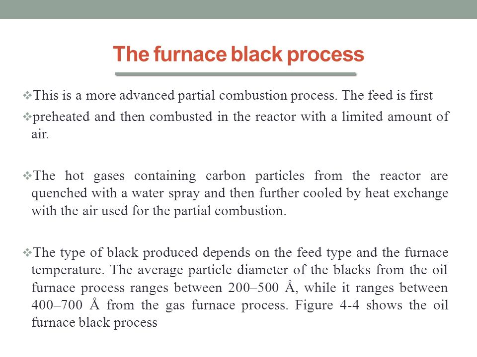 The furnace black process
