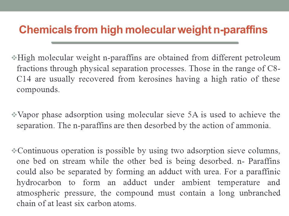 Chemicals from high molecular weight n-paraffins