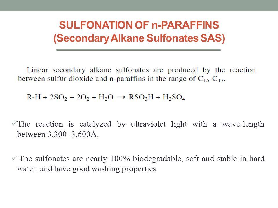 SULFONATION OF n-PARAFFINS (Secondary Alkane Sulfonates SAS)
