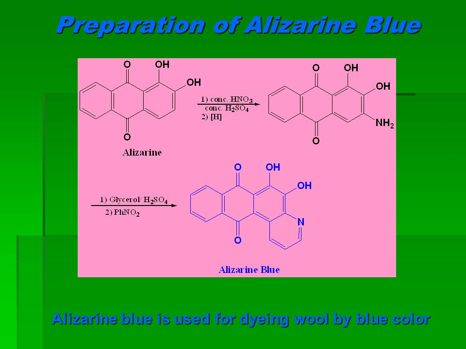 Preparation of Alizarine Blue