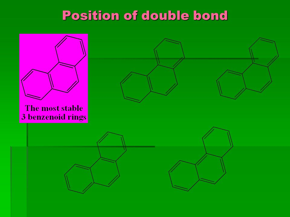 Position of double bond