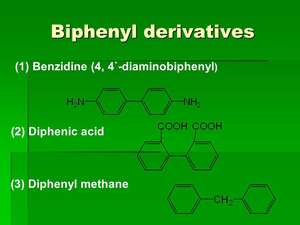 (1) Benzidine (4, 4`-diaminobiphenyl)