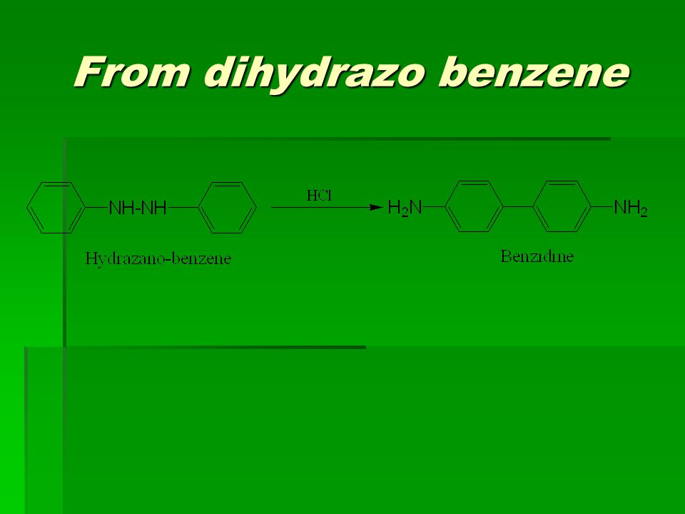 From dihydrazo benzene