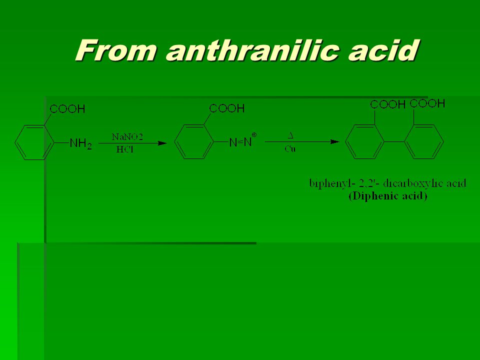 From anthranilic acid