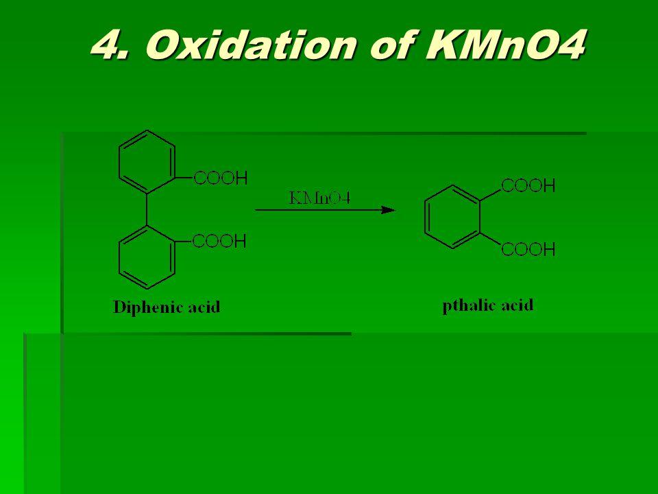 4. Oxidation of KMnO4