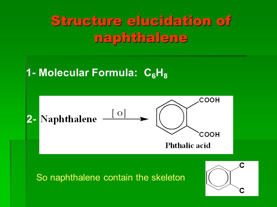Structure elucidation of naphthalene