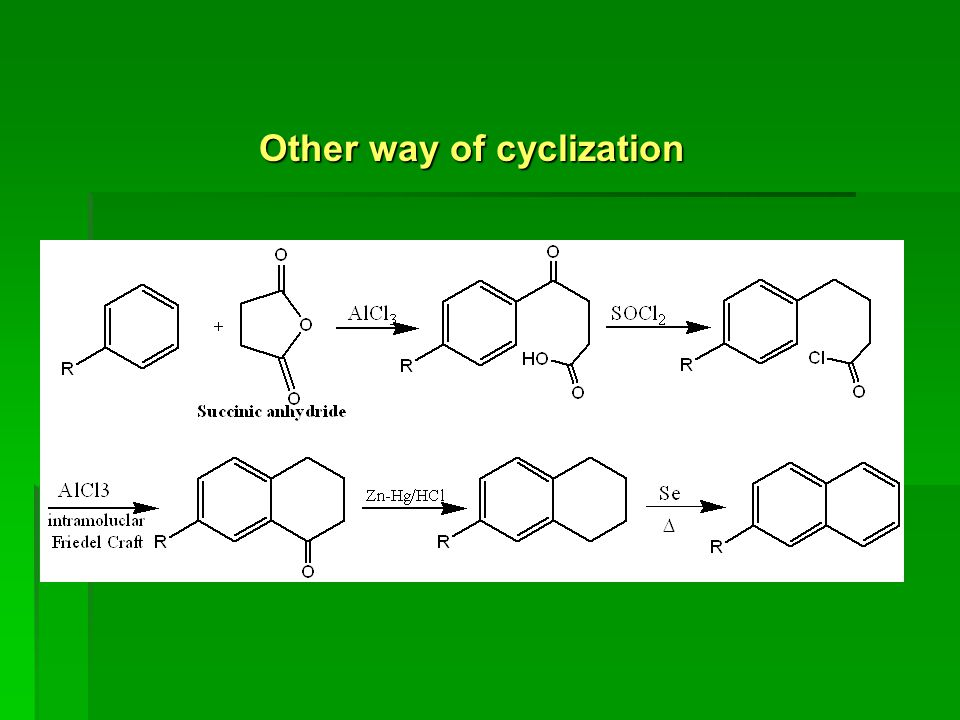 Other way of cyclization