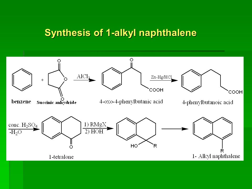 Synthesis of 1-alkyl naphthalene