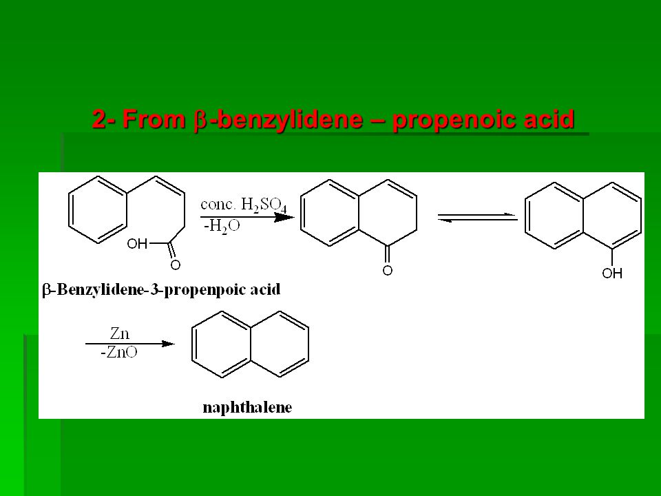 2- From -benzylidene – propenoic acid