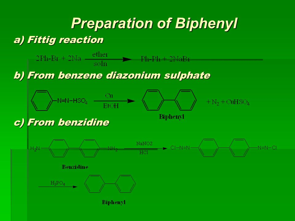 Preparation of Biphenyl