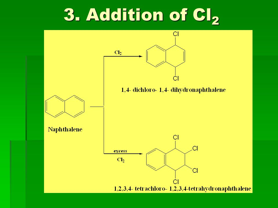 3. Addition of Cl2