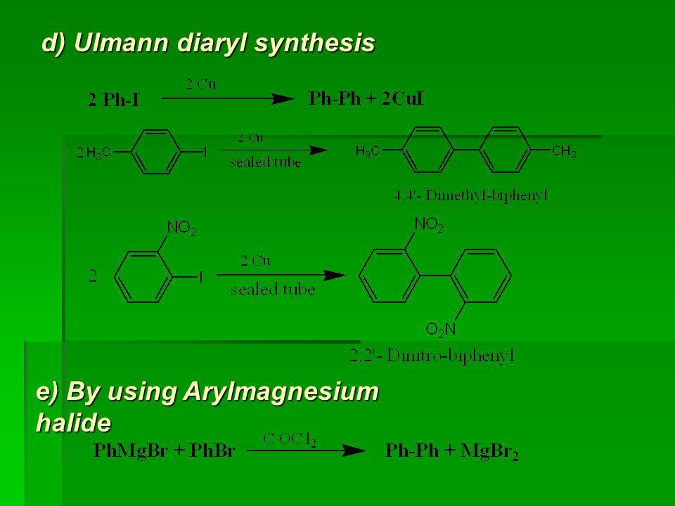 d) Ulmann diaryl synthesis