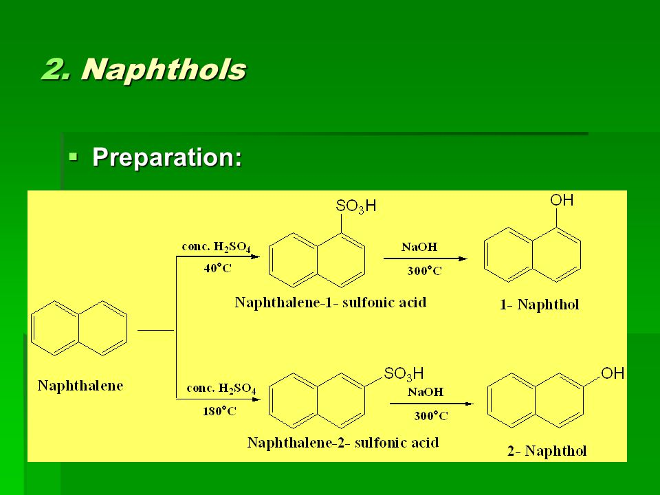 2. Naphthols Preparation: