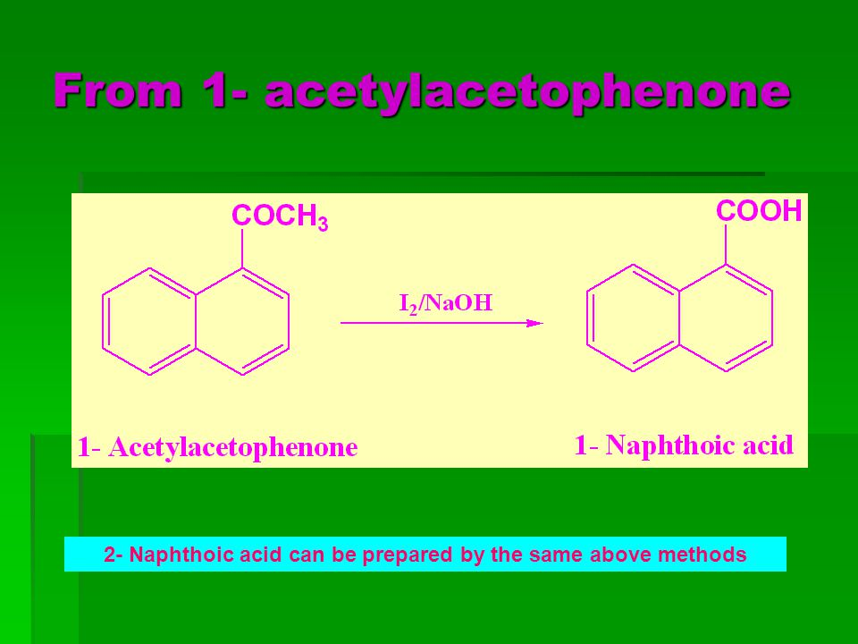 From 1- acetylacetophenone