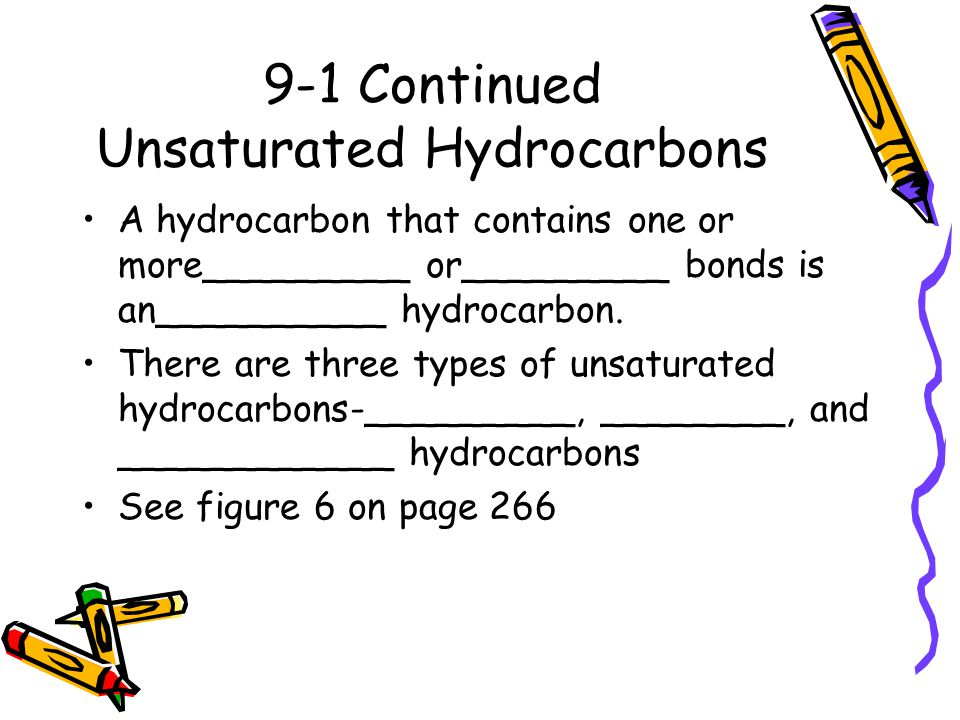 9-1 Continued Unsaturated Hydrocarbons
